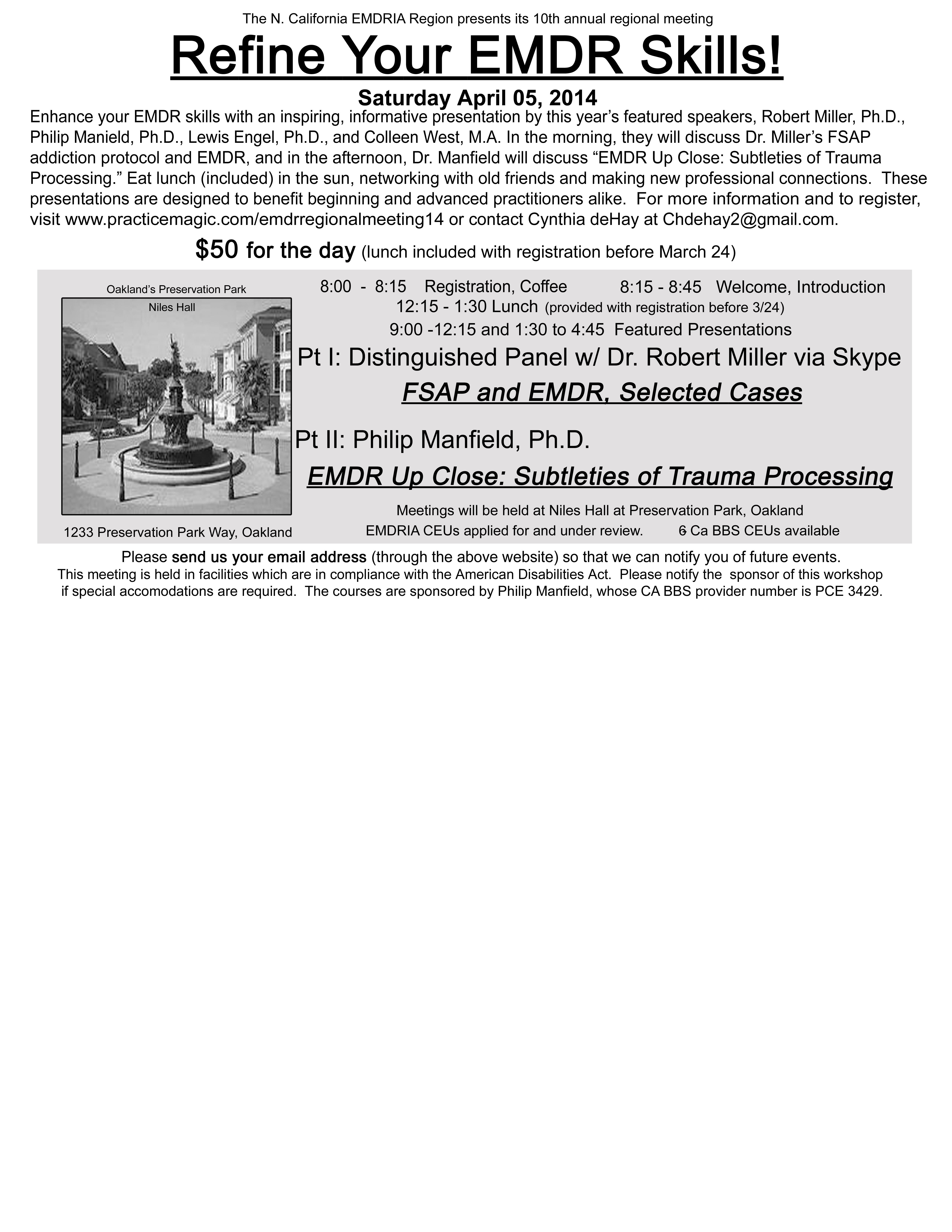 N Cal Emdria Regional Meeting